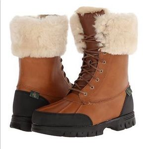 Leather Ralph Lauren Snow Boots